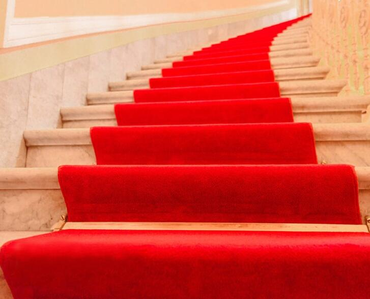 Red Carpet One-off Marriage Red Carpet Celebration Opening Wedding Customized Door Stairs Slip-proof and Thicker