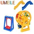 UMEILE Amusement Park Large Particle Building Blocks Swing Ferris Wheel Slide Assemble Brick Toys Compatible with Legoe Duplo