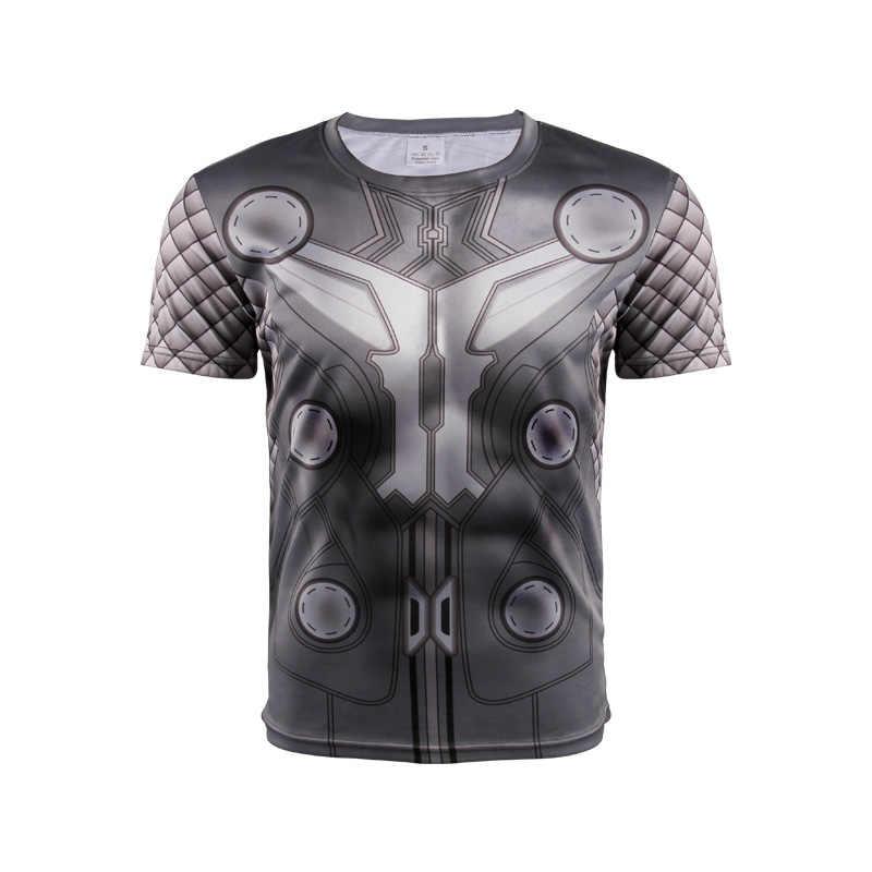 2017 manica corta da Uomo 3 d T-Shirt di Alta qualità Spiderman Superman Captain America Batman/Iron man/Il hulk Calzamaglia t degli uomini della camicia