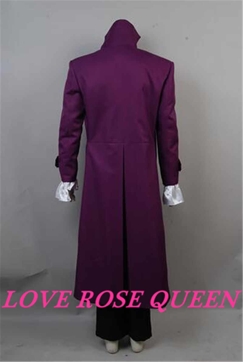 Purple Rain Prince Rogers Nelson Cosplay Costume Light Purple Trench Coat Suit
