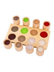 PHOOHI Toy Preschool Wooden Montessori Sensory-Material Tactile Educational Baby Kids