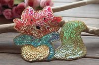 4Pcs Exquisite cartoon squirrel lace sequins patch sew on clothes pants t-shirt decoration repair beads decals accessories A895