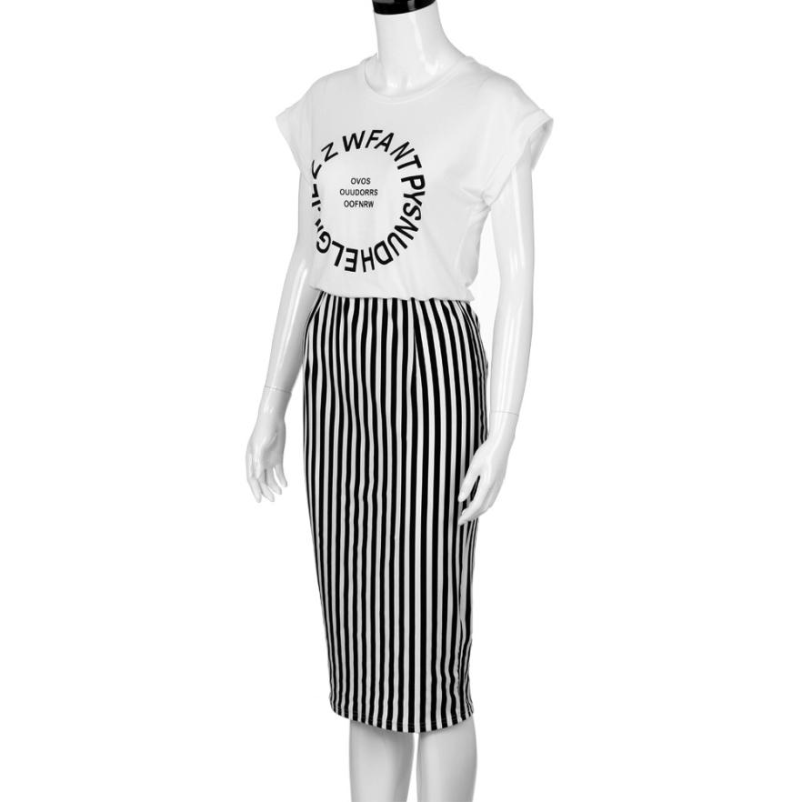 New 2017 Womens Summer Striped Casual Dess Short Sleeve Party Dress For Woman Letter Print Beach Dress
