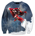 hot! Team Ironpool Blasting Off Crewneck hoodie printed mens 3d Sweatshirt Cartoon women/men Deadpool Blood hoodies