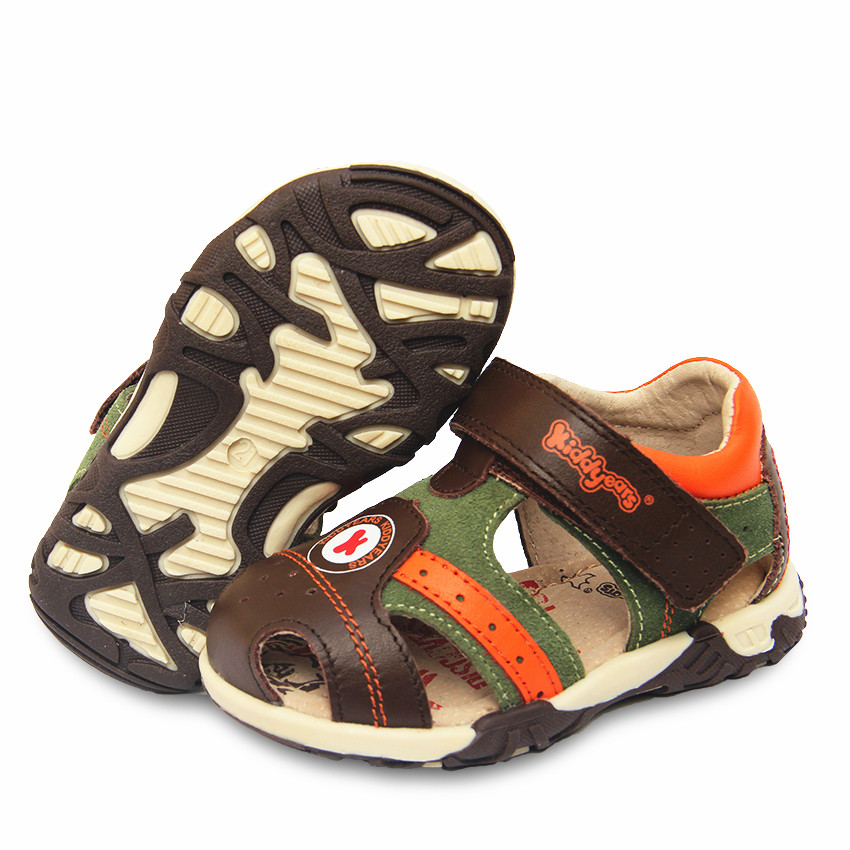 New 1pair  Boy Genuine Leather Orthopedic Shoes Children Sandals,Super Quality Kids Summer Shoes