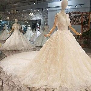 Image 2 - Aijingyu 짧은 드레스 웨딩 온라인 중국 상점 진짜 샘플 신부 사용자 정의 스페인 컬러 가운 인도네시아 서양 결혼식