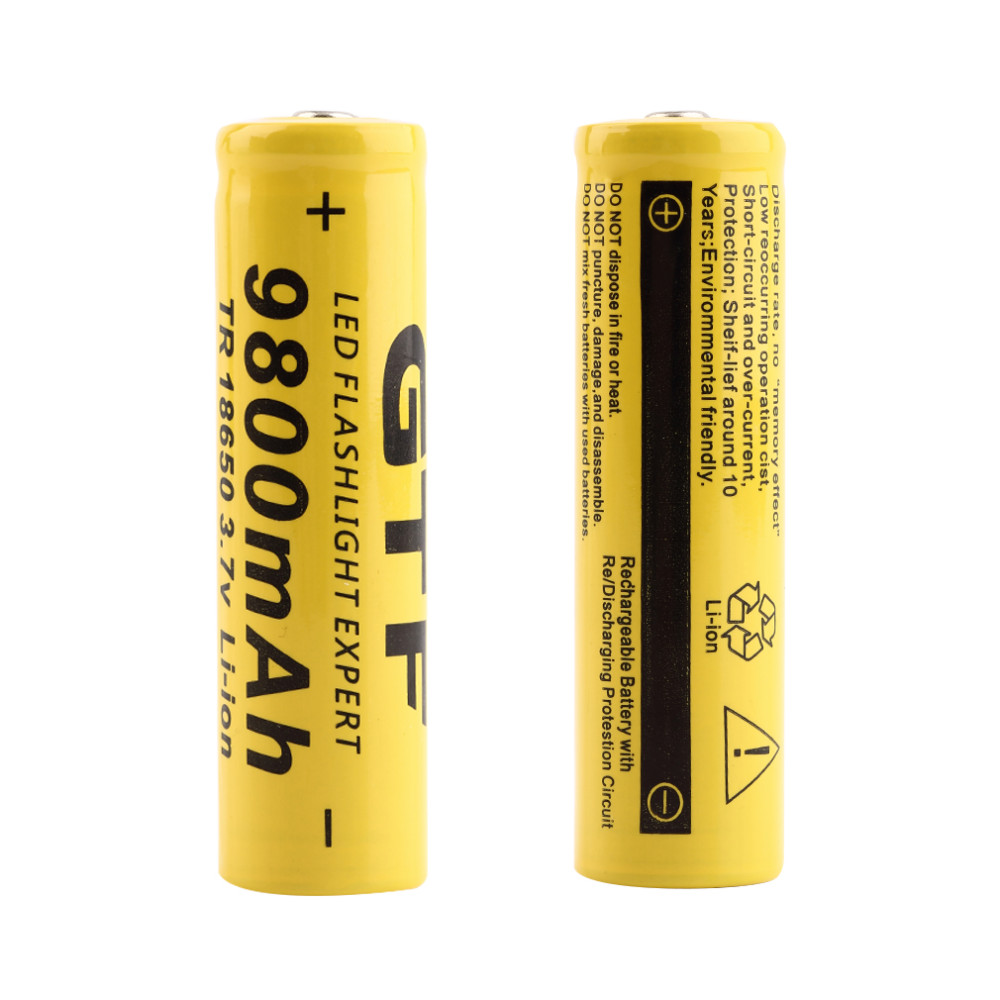 AIMIHUO 18650 battery 9800mAh 3.7V rechargeable Li-ion battery flashlight use For Flashlight Torch Remote control