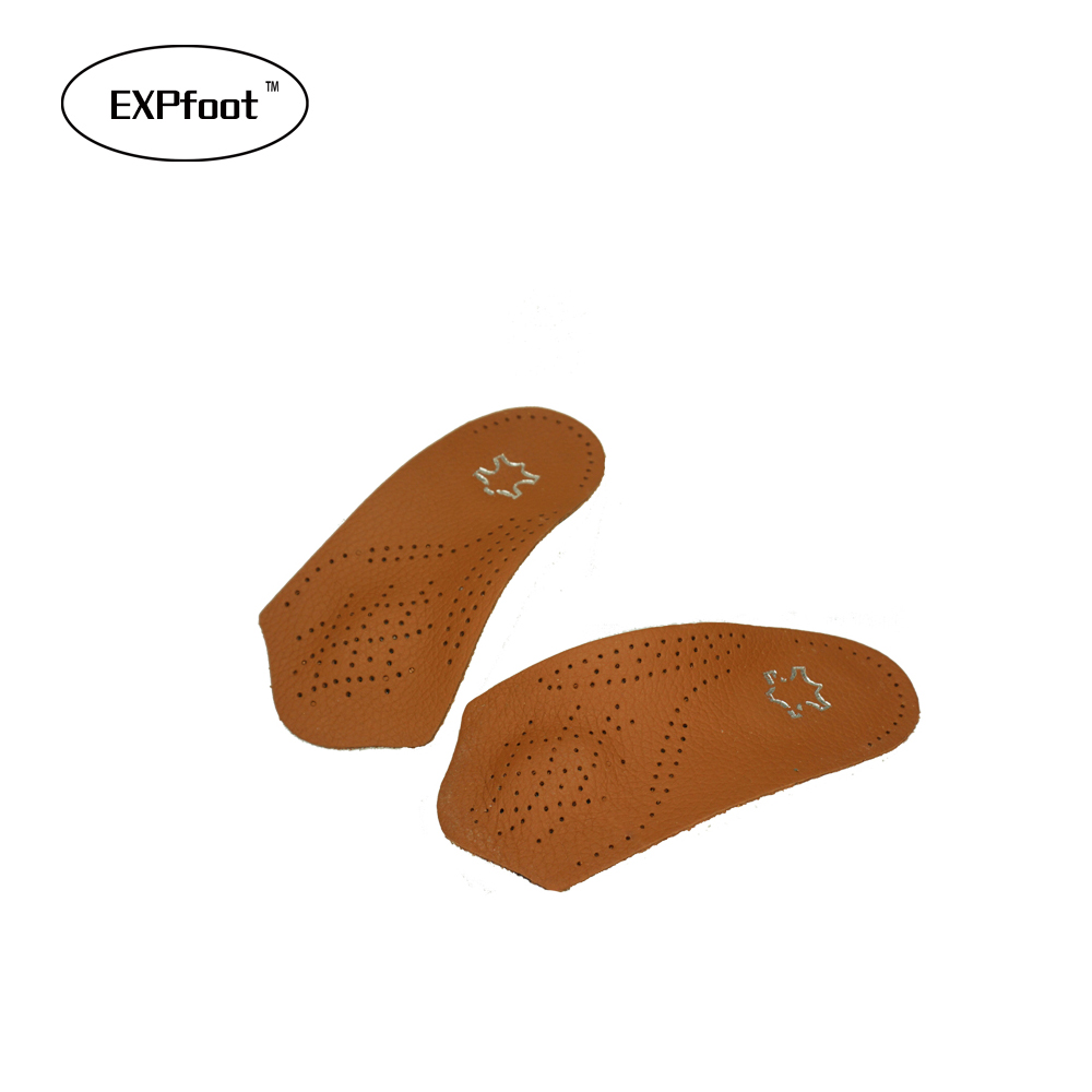 Half arch support orthopedic insoles flat foot correct 3/4 length orthotic insole feet care health orthotics insert shoe pad kids children pu orthopedic insoles for children shoes flat foot arch support orthotic pads correction health feet care w046