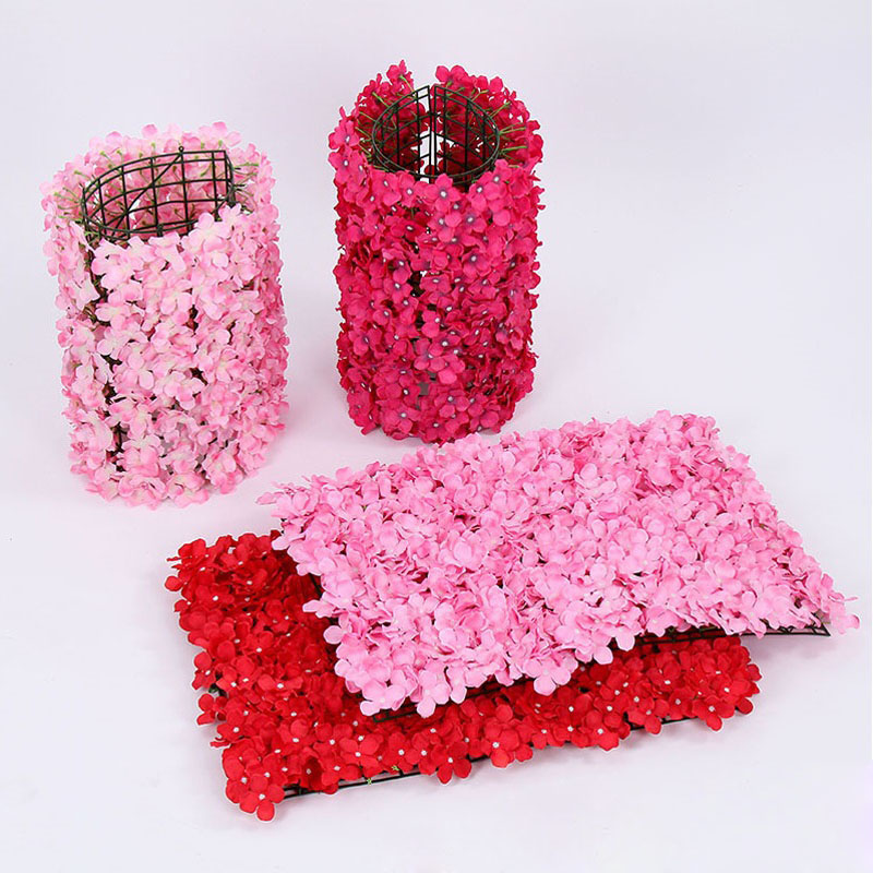 20pcs Artificial silk Hydrangea flower wall most popular wedding decor party decoration backdrop table centerpiece wholesales