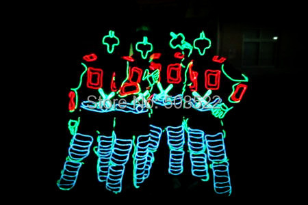 EL light-emitting clothing Nightclub costumes Dance costumes fluorescent color suits Size customized