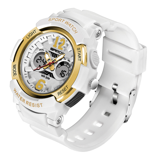 SANDA Kids Sport Watches LED Digital Children Watch Kids Watch Waterproof relogio masculino Boys Girls Alarm reloj hombre 6