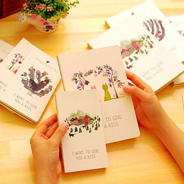 Exquisite cat notebook stationery ultra thick blank with black exquisite cat notebook stationery ultra thick blank with black sheets graffiti notepad cute diary agenda office gumiabroncs Gallery