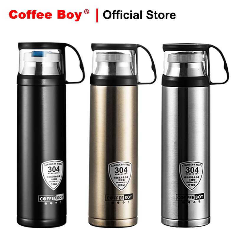 Thermos bottle with lid 500ml women Portable thermo mug 304 stainless steel tumbler Vacuum Flasks & Thermoses thermocup