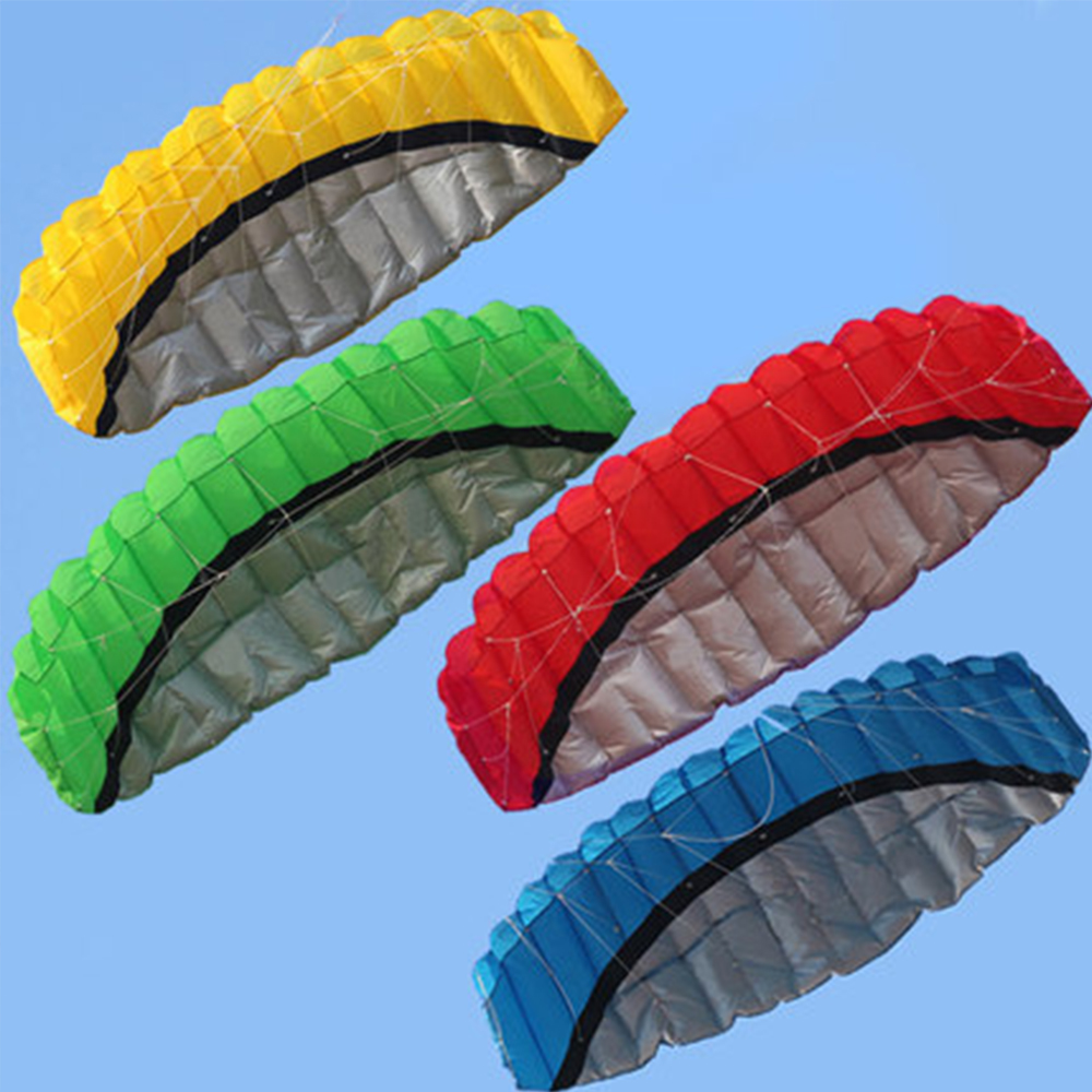 New 1Pc 2.5M Double-line Solid Pattern Paraglider Soft Sorts Kite For Kids Best Gift Toys Sports Beach Parachute Stunt Kites