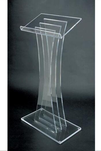 China Manufacturer Wholesale Acrylic Working Platform / Acrylic Lectern / Acrylic Podium