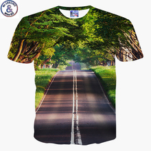 Mr.1991 brand newest design kids t-shirt for boys 2017summer style beautiful Scenic Boulevard 3D printed tshirt girls tops DT41