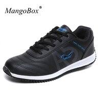 KERZER Spring Autumn Man Sport Shoes 2016 Brand Running Sneakers Men Leather Walking Jogging Shoes Black