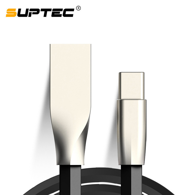 SUPTEC USB Type C Cable Zinc Alloy USB C Cable Fast Charging Data Cable Type C USB Charger Cable for Xiaomi Huawei LG Sony HTC|Mobile Phone Cables| |  - AliExpress