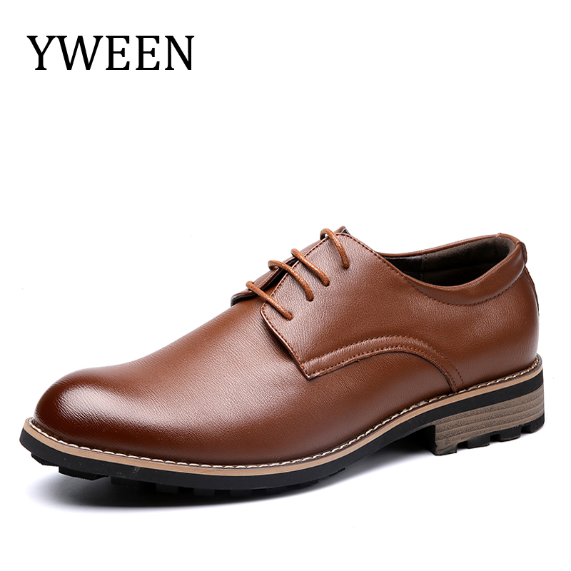 YWEEN New Classic Men Dress Shoes, Casual Oxford Shoes For Men, High Quality Men Oxford Formal Shoes