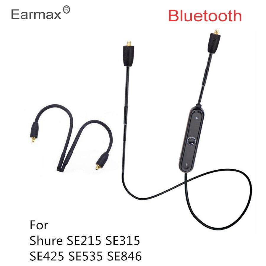 bilder für Earmax MMCX Kabel Bluetooth für Shure SE215 SE535 SE846 SE425 Kopfhörer Adapter Ersatz Wireless fone de ouvido Musik Audio