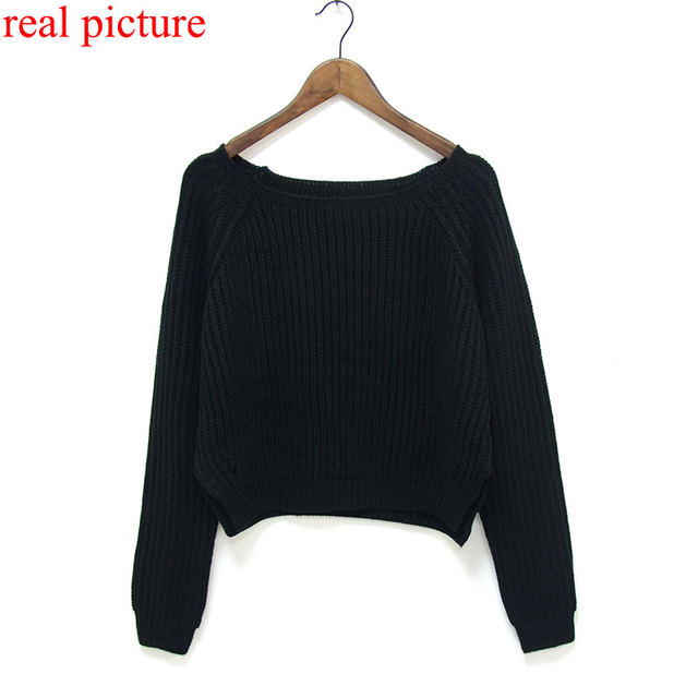 Crop Knitted Slim Sweater 1