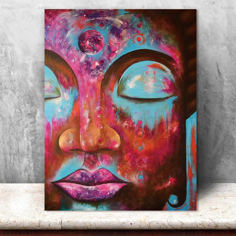 Canvas Painting Pictures Buddha home decor Wall Art  prints on canvas painting wall decoration for living room no frame art wall
