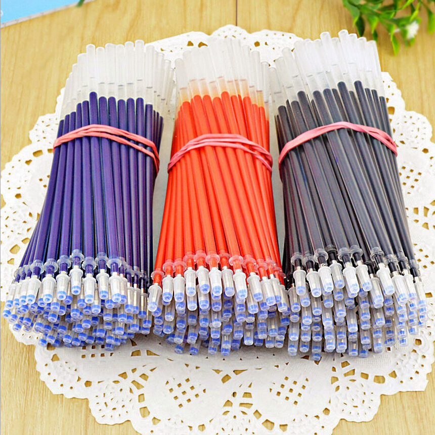 20pcs/lot Blue Red Black Ink 0.5mm Gel BallPoint Pen Refills Set Korean Stationery Creative Gift School Supplies Pen Refills