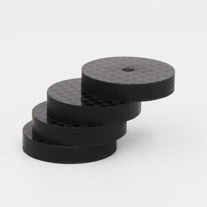 Image 5 - ISF0001 أسود الكربون الألياف عزل رئيس 25x5 مللي متر سبايك قاعدة سادة قدم حذاء ايفي 4 قطعة