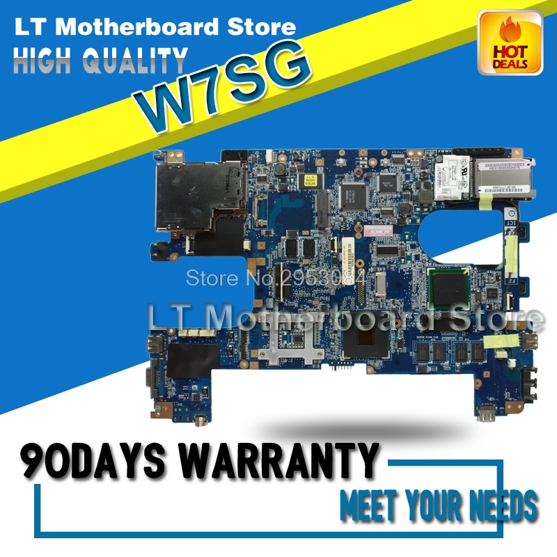 Motherboard For ASUS W7SG W7S Laptop Motherboard System Board Main Board Mainboard Card Logic Board Tested Well S-4 used for toshiba 281c 351c 451c copier motherboard logic board interface board lgc board