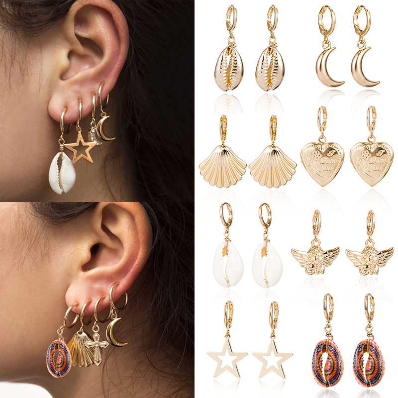 Alloy Ear Clip Earrings Hypoallergenic Pendant Earrings Jewelry for Women Party Wedding  KQS8(China)