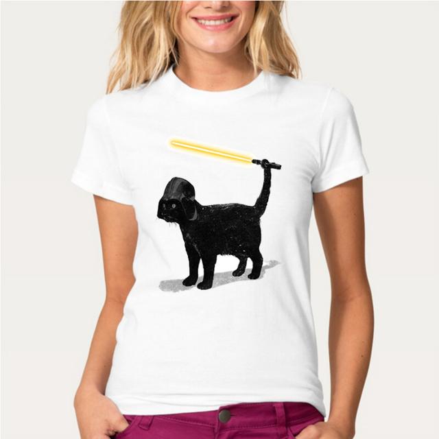 BLACK CAT Darth Vader T-shirt Women HarajukuS-XL