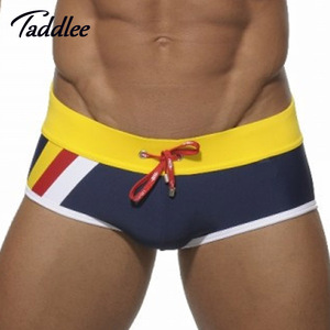 Taddlee Brand Mens Man Swimwear Swimsuits Brief Beach Sea Swimming Board Surf Wear bikini gay Men Swim Boxer Shorts Trunks(China)