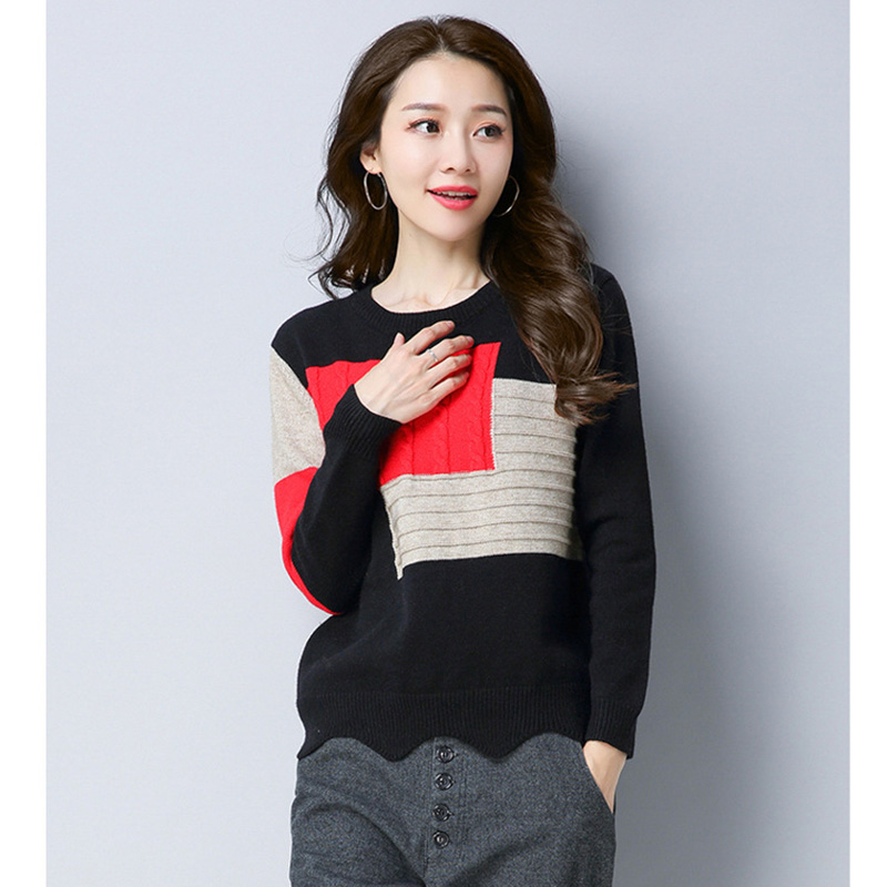3 1 Femme 2 Style De À Kk2609 Dames Chandails Chandail Pull Pulls Hiver Mode Coréenne 2018 Femmes X Tricoter LpSzUqMVG