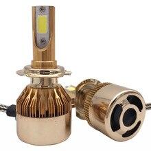 H7 20000LM светодио дный фар Conversion Kit автомобиля Bea светодио дный лампа для авто лампочки светодио дный огни автомобиля 12 В Универсальный 6000 К сигнальные лампы
