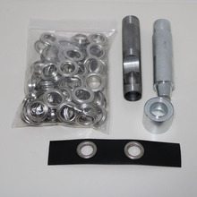 4mm-20mm 100 set silver eyelet and Eyelet Punch Die Tool Set Metal button for Leathercraft Clothing Shoes Belt Bag Grommet
