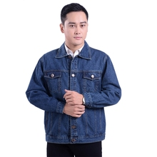 цена на B men's outwear cowboy jackets clothing 2018 Autumn and winter Large size jacket coat male button casual blue denim jacket S-4XL