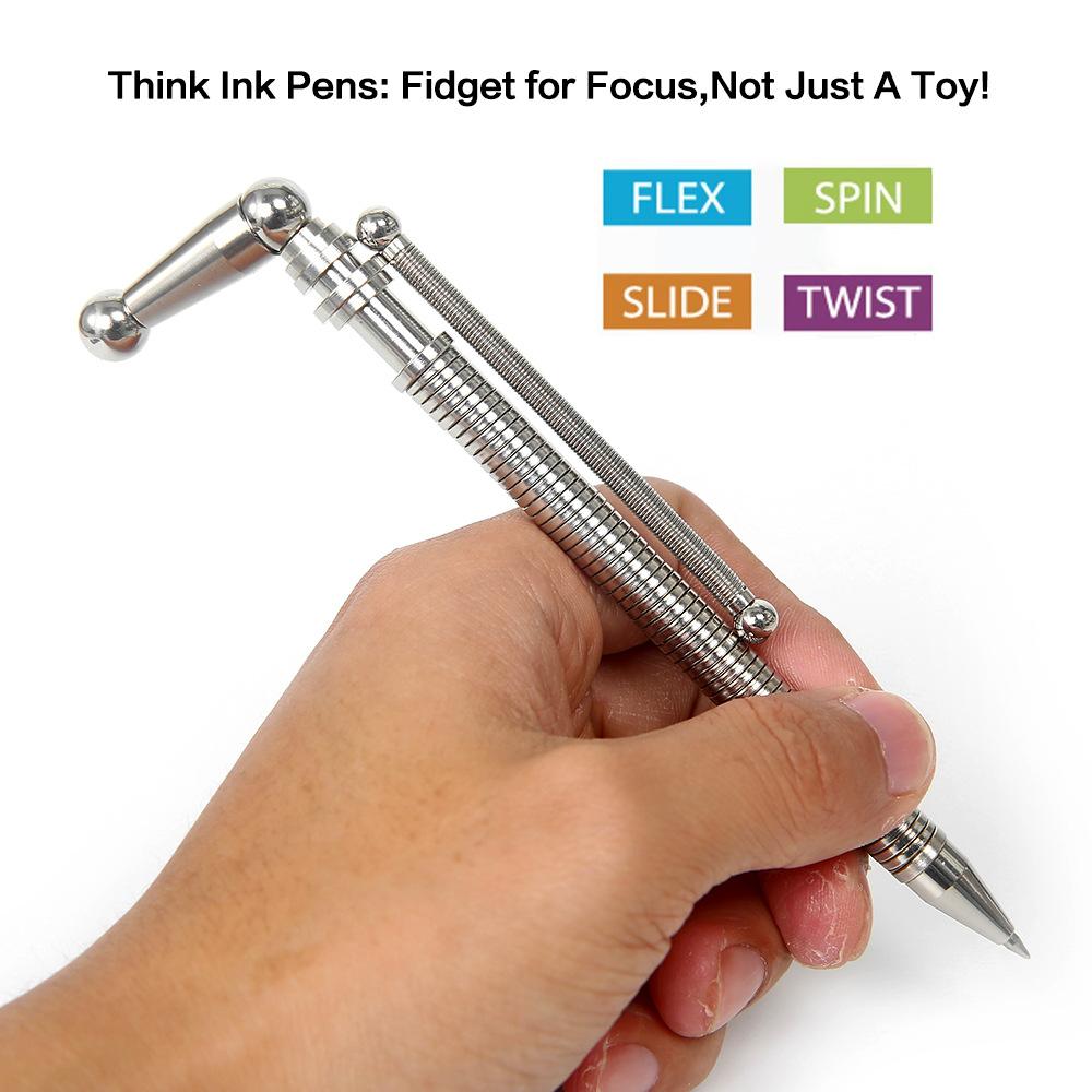 Aluminum Inkless Pen Business Gift Pen Multifuction Fingertips Toys NR7X