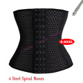 Fitness Underbust Women Steel Bones Waist Cincher Shapewear Corsets Body Shaper Hollow Breathable Bustier S-3XL