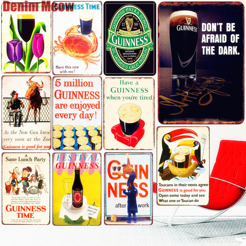 Metal Tin Sign Beer Bar Pub Accueil Rétro Vintage Poster CAFE ART