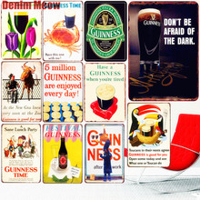Guinness Time Vintage Metal Tin Signs Decorative Plate for Bar Pub Club Beer Advertising Wine Wall Sticker Home Decor N275