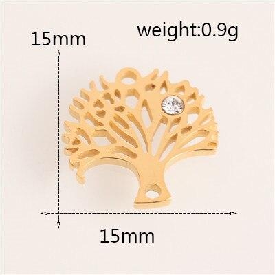 Модный Золотой/Серебряный геометрический кулон из нержавеющей стали в форме сердца и Луны для браслетов, браслетов, ожерелья, ювелирных изделий - Цвет: AC18246