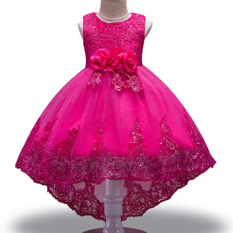 2019 г. Распродажа, элегантное платье с цветочным узором для девочек на свадьбу нарядное длинное платье принцессы без рукавов с кружевом и фатиновой юбкой для детей от 2 до 14 лет