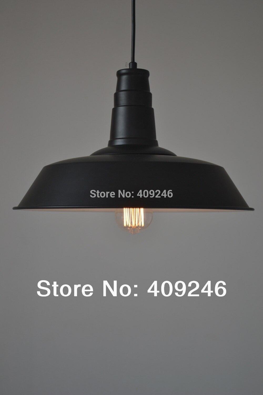 ФОТО 36CM American Vintage Retro Metal Industrial Edison Pendant Lights for Cafe Bar Aisle Shop Club Droplight Decoration Black/White
