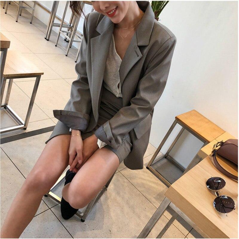Suit Set 2019 Summer New Women's Fashion Two-Piece Professional Slim Black Small Suit Jacket Temperament Skirt
