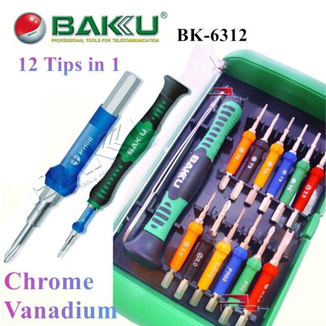 5f8514ac4cd550 Precision Screwdriver Bit Set BAKU BK-6312 Professional Repair Tools for iPhone  Cell Phone Laptop Opening Tool Kit 12 Bits in 1