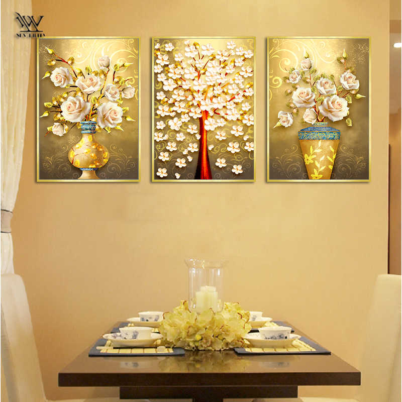 Dining Room Flowers Posters And Prints Classic Wall Art Canvas Painting Of Living Room Wall Pictures For Bedroom Home Decoration Painting Calligraphy Aliexpress