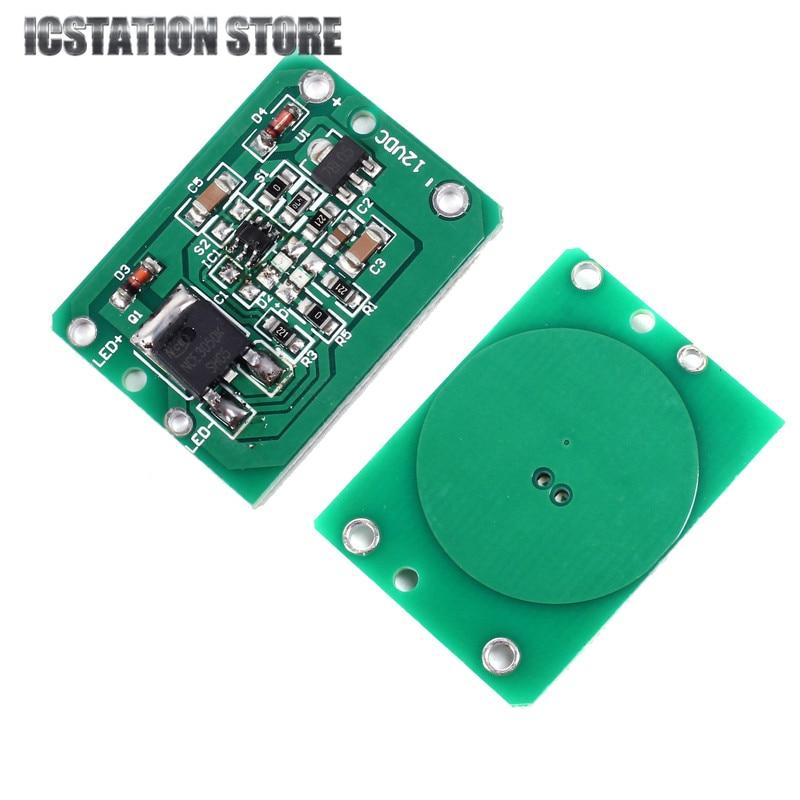 3pcs 12V Capacitive Touch Switch Module Key Module Inching Latch Self-Locking/No-Locking Touching Sensor Module DC 6-20V 3A имитатор присутствия в доме квартире