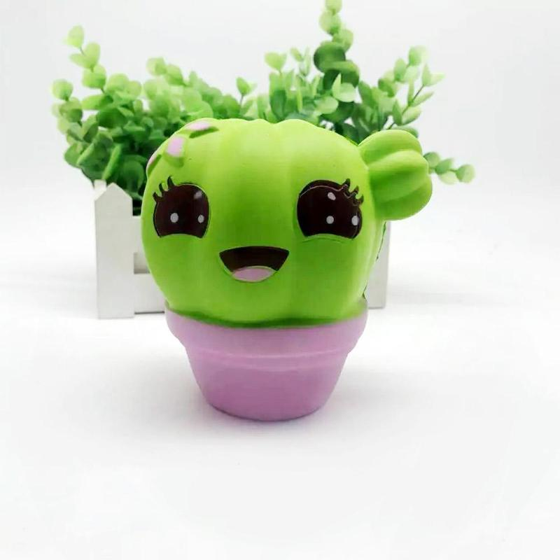 Antistress Trick Slime Toy Lovely Simulation Cactus Squeeze Stress Reliever PU Slow Rising Fun Novelty Toys