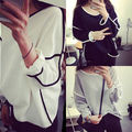 New Fashion Women's Loose Long Sleeve Cotton Casual Blouse Shirt Tops Blouse
