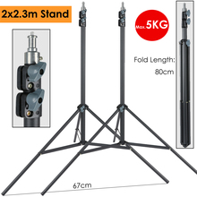 2x230cm 헤비 듀티 사진 라이트 스탠드 지원 삼각대 최대 하중 5KG 사진 조명 Led Softbox 우산